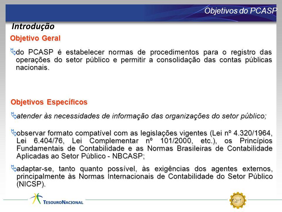 Introdução Objetivos do PCASP Objetivo Geral