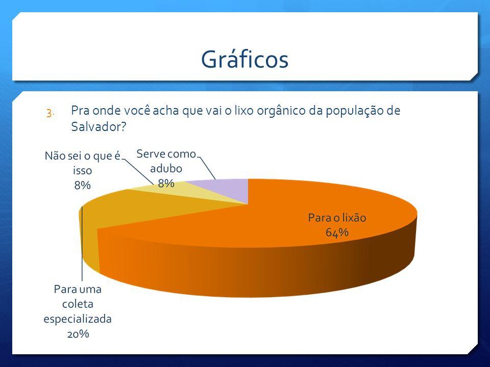 Gráficos Pra onde você acha que vai o lixo orgânico da população de Salvador
