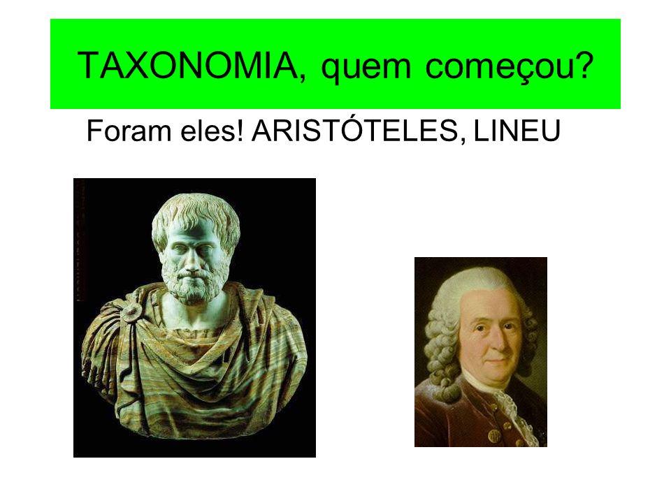 TAXONOMIA, quem começou
