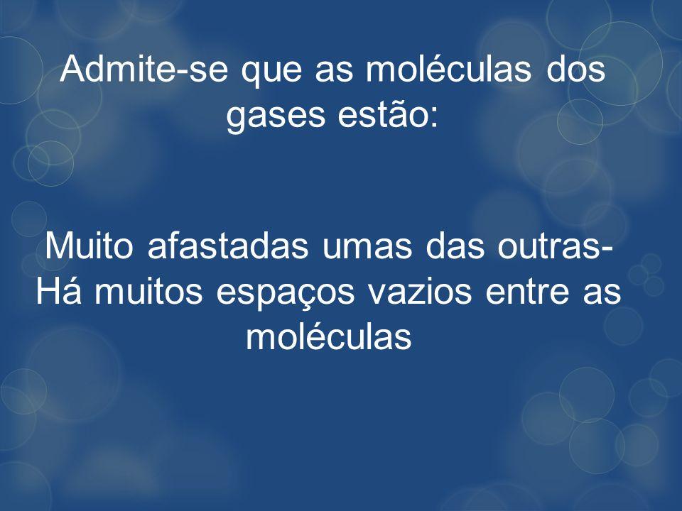 Admite-se que as moléculas dos gases estão: