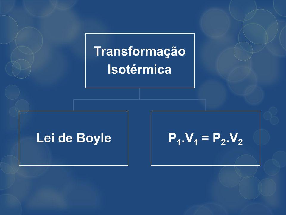 Transformação Isotérmica Lei de Boyle P1.V1 = P2.V2