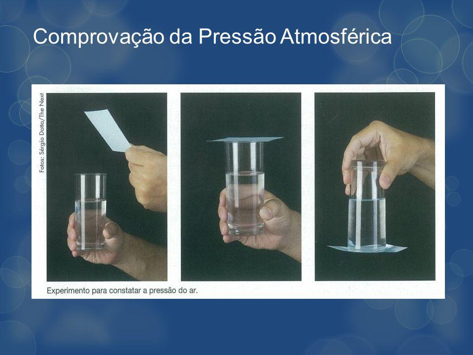 Comprovação da Pressão Atmosférica