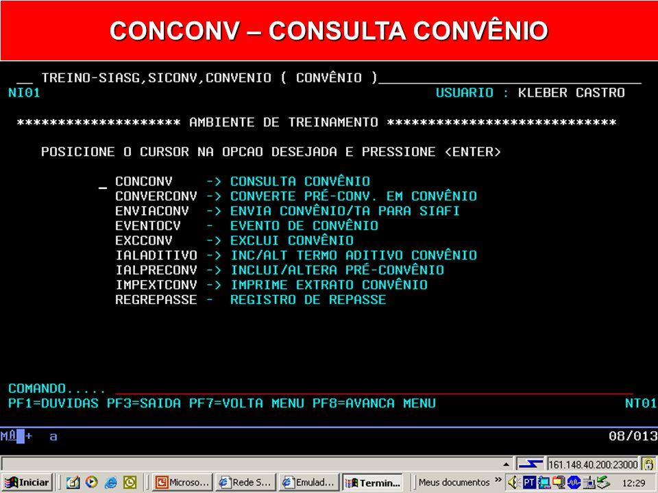 CONCONV – CONSULTA CONVÊNIO