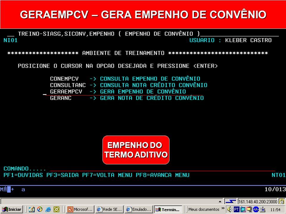 GERAEMPCV – GERA EMPENHO DE CONVÊNIO