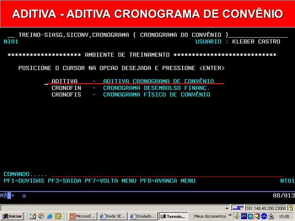 ADITIVA - ADITIVA CRONOGRAMA DE CONVÊNIO