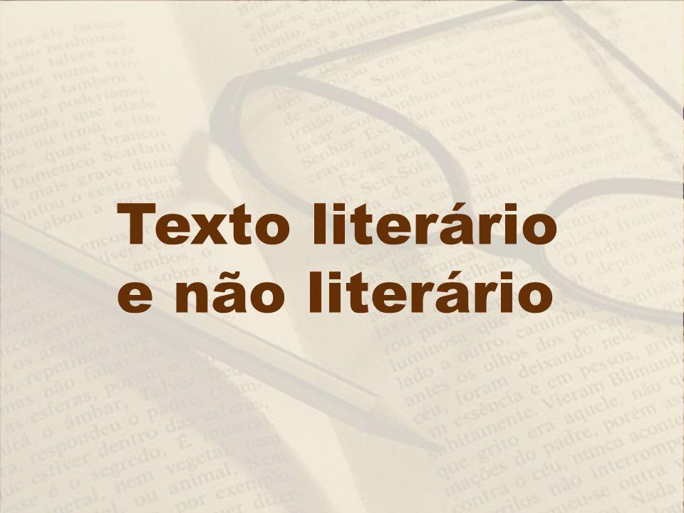 Texto literário e não literário