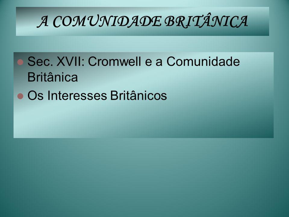 A COMUNIDADE BRITÂNICA