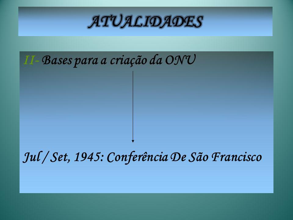 ATUALIDADES II- Bases para a criação da ONU