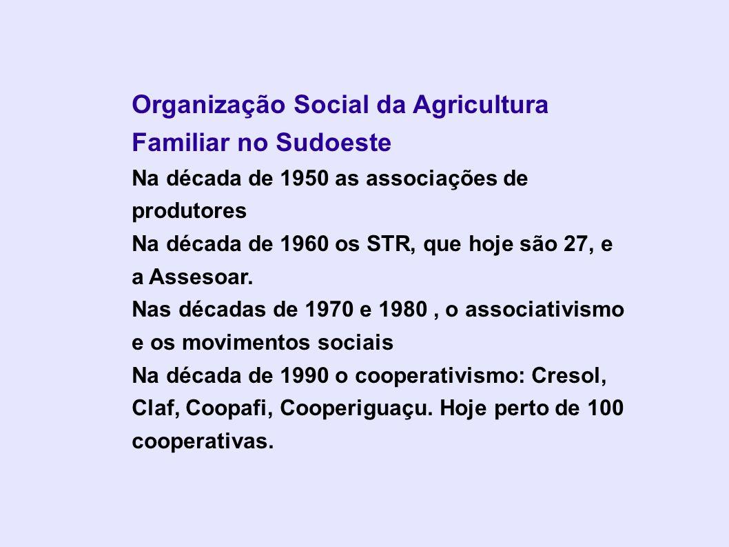 Organização Social da Agricultura Familiar no Sudoeste