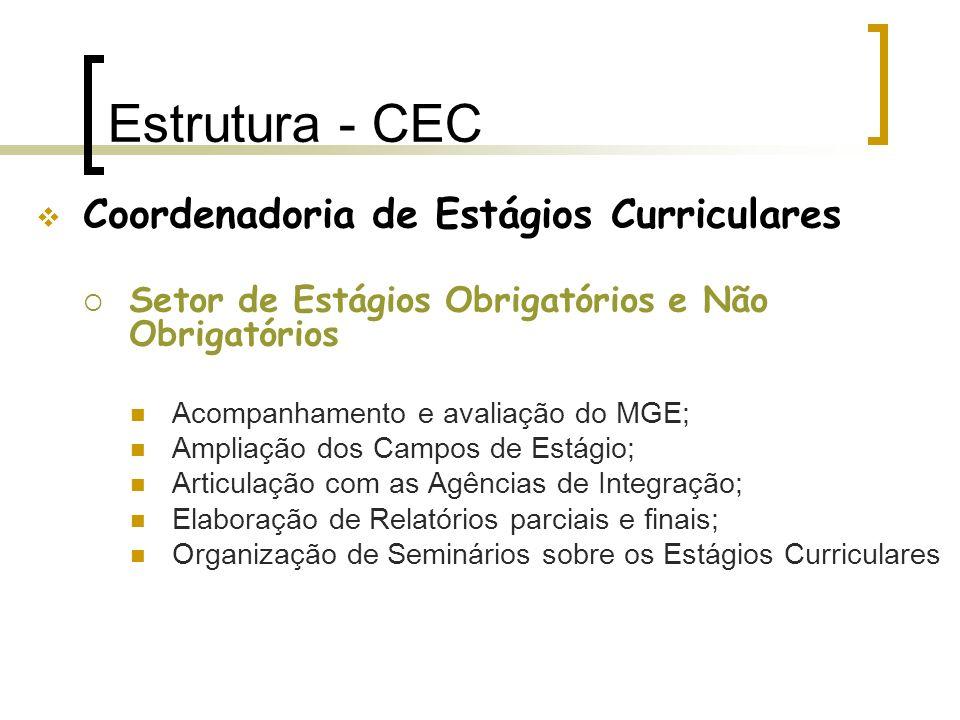 Estrutura - CEC Coordenadoria de Estágios Curriculares