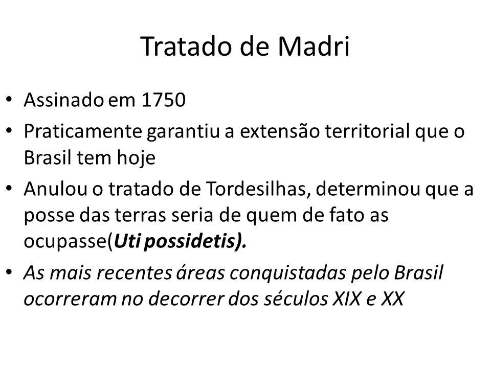 Tratado de Madri Assinado em 1750