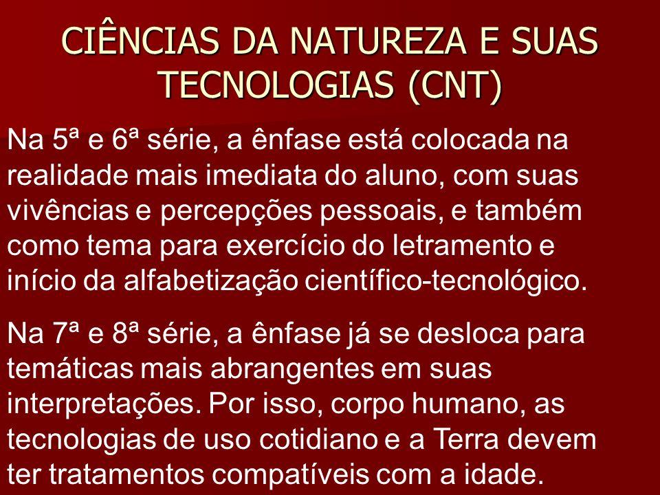 CIÊNCIAS DA NATUREZA E SUAS TECNOLOGIAS (CNT)