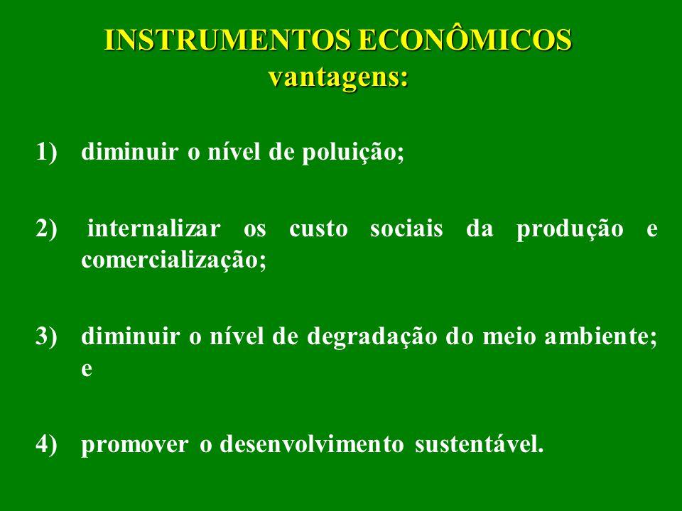 INSTRUMENTOS ECONOMICOS DE PRESERVAÇÃO DO MEIO AMBIENTE