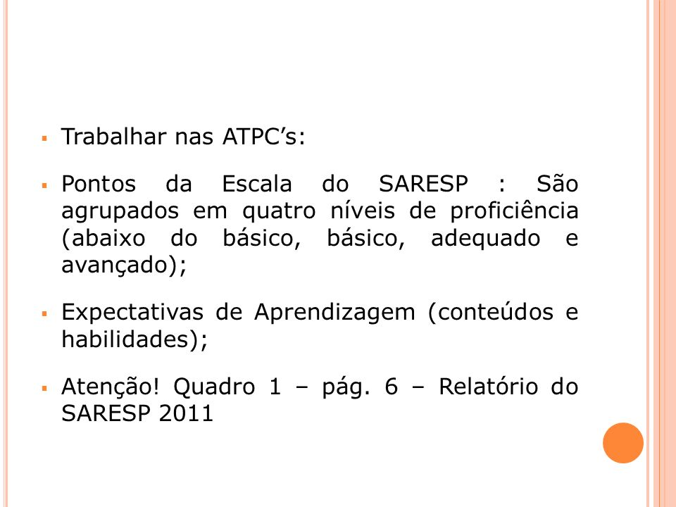 Trabalhar nas ATPC's: