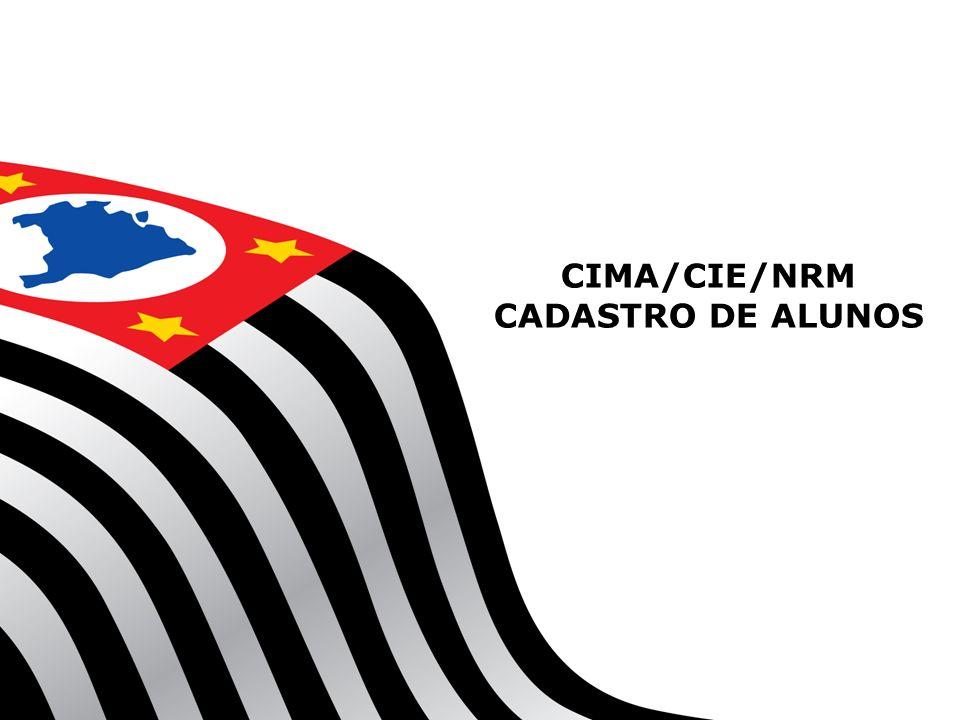 CIMA/CIE/NRM CADASTRO DE ALUNOS