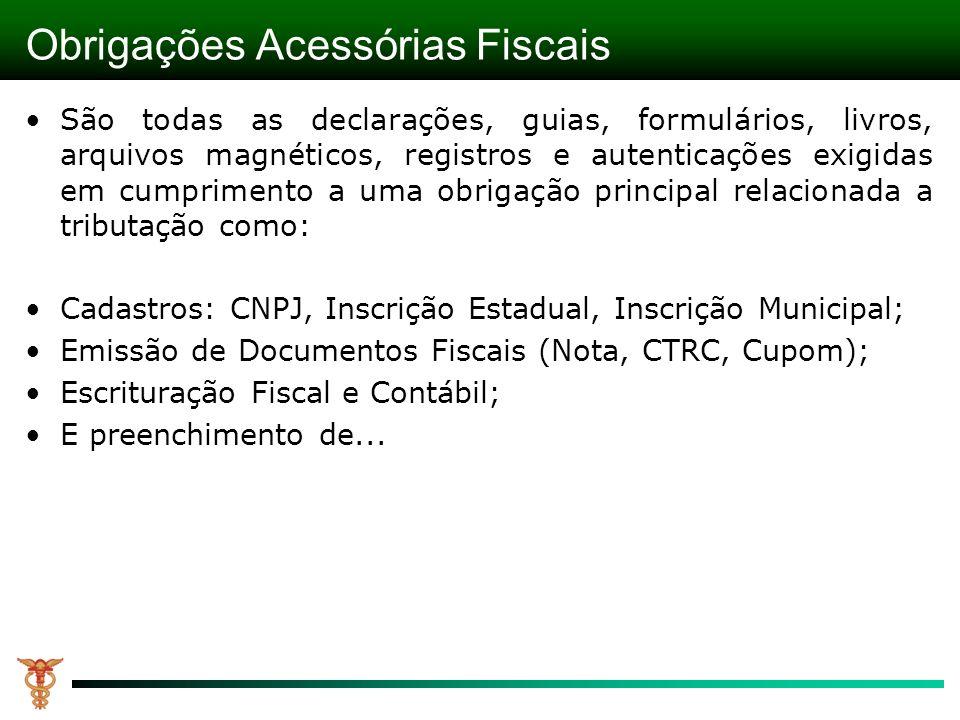 Obrigações Acessórias Fiscais
