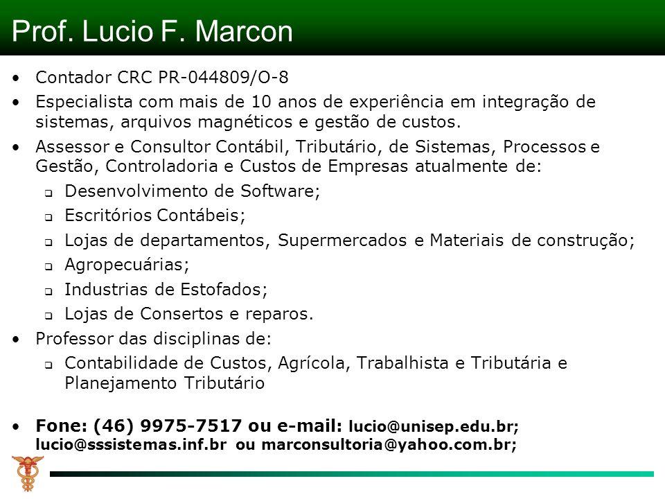 Prof. Lucio F. Marcon Contador CRC PR-044809/O-8