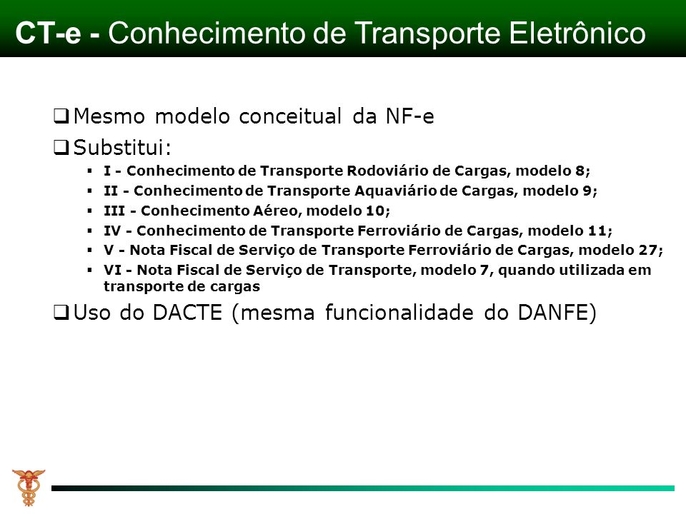 CT-e - Conhecimento de Transporte Eletrônico