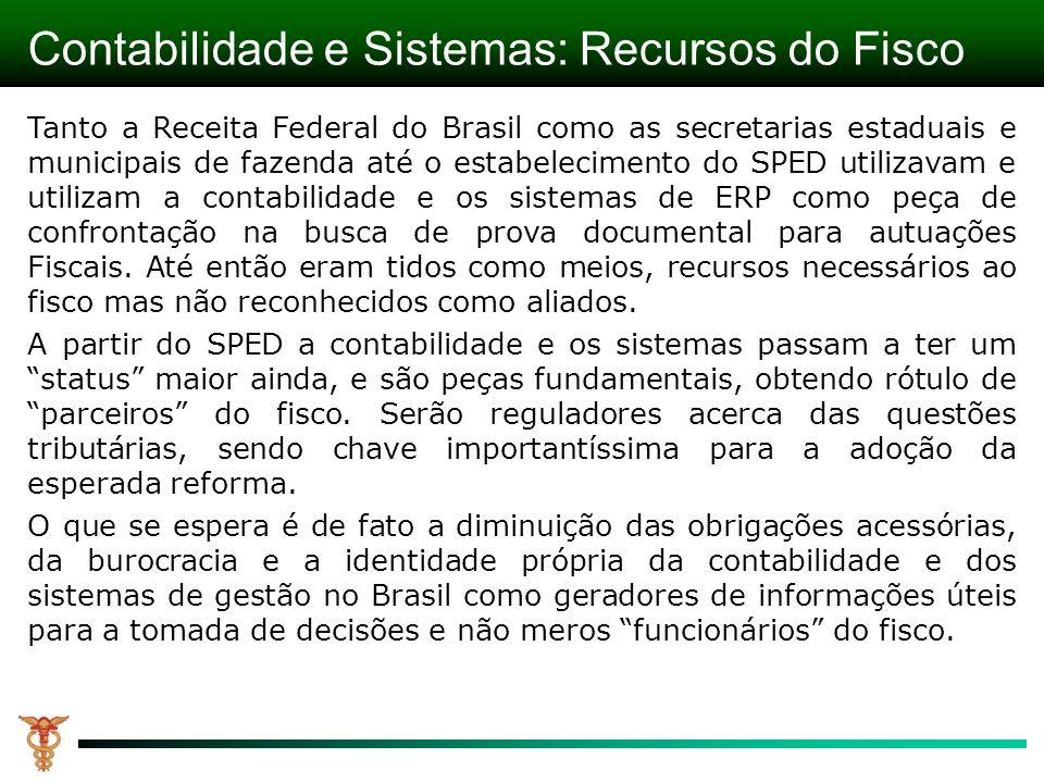 Contabilidade e Sistemas: Recursos do Fisco