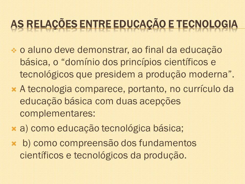 As relações entre educação e tecnologia