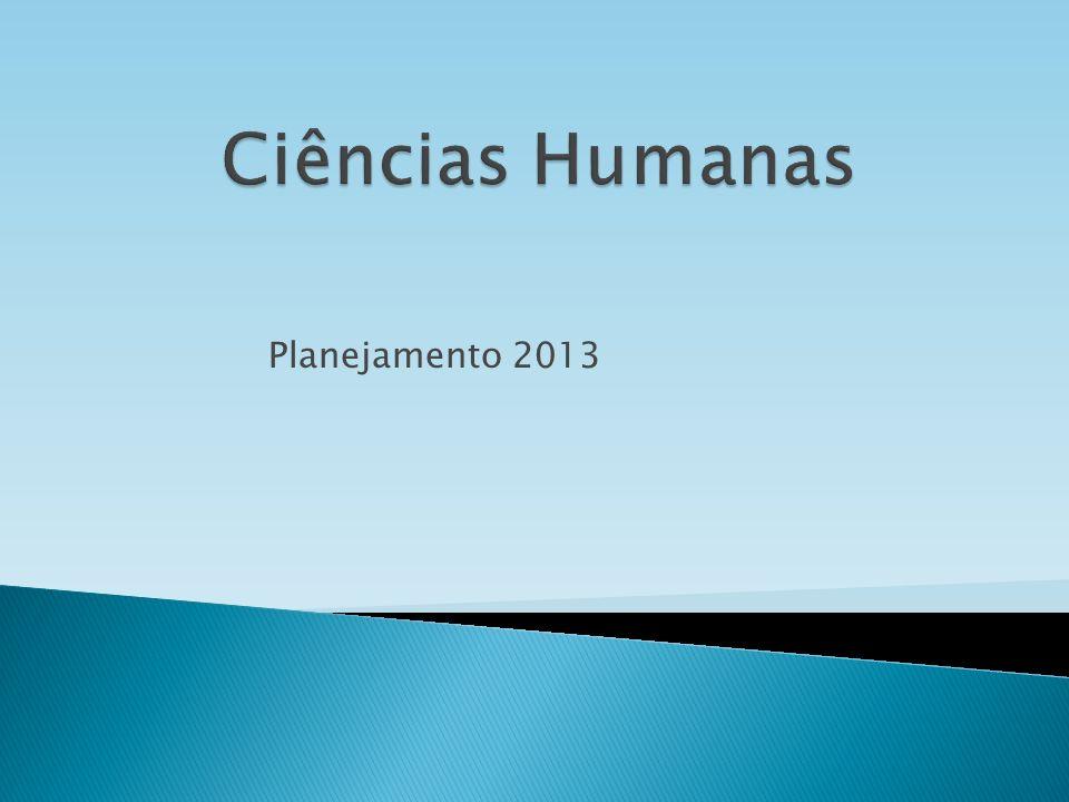 Ciências Humanas Planejamento 2013