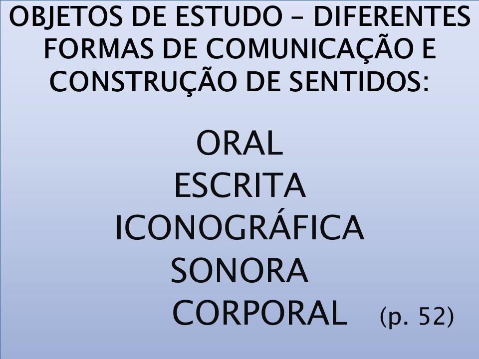 ORAL ESCRITA ICONOGRÁFICA SONORA CORPORAL (p. 52)