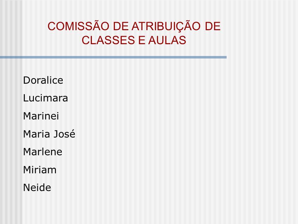 COMISSÃO DE ATRIBUIÇÃO DE CLASSES E AULAS