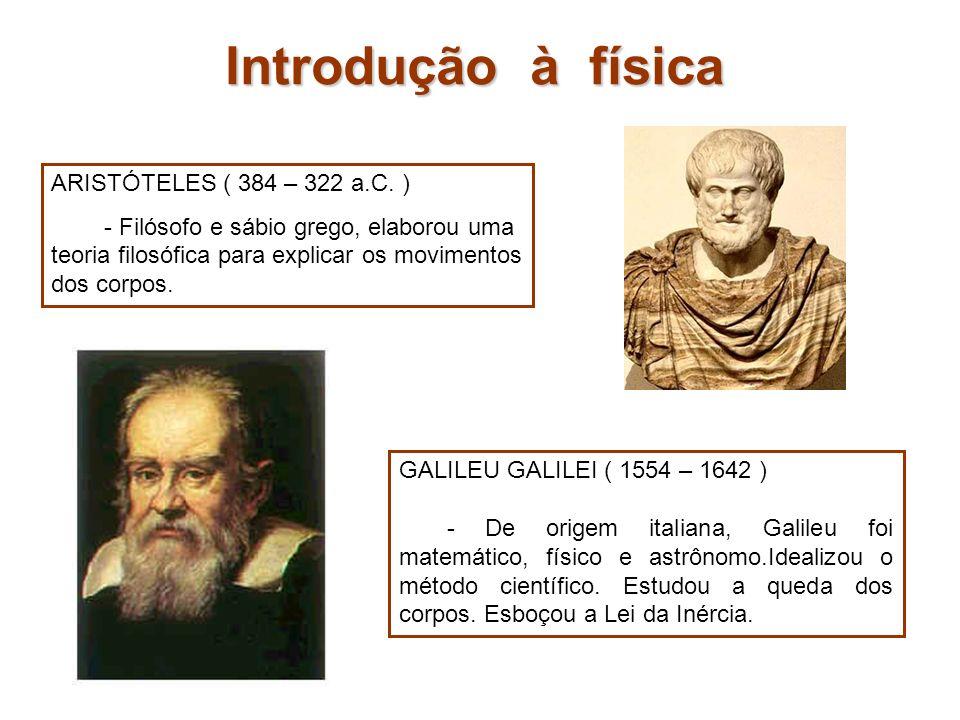 Introdução à física ARISTÓTELES ( 384 – 322 a.C. )