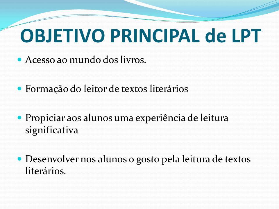 OBJETIVO PRINCIPAL de LPT