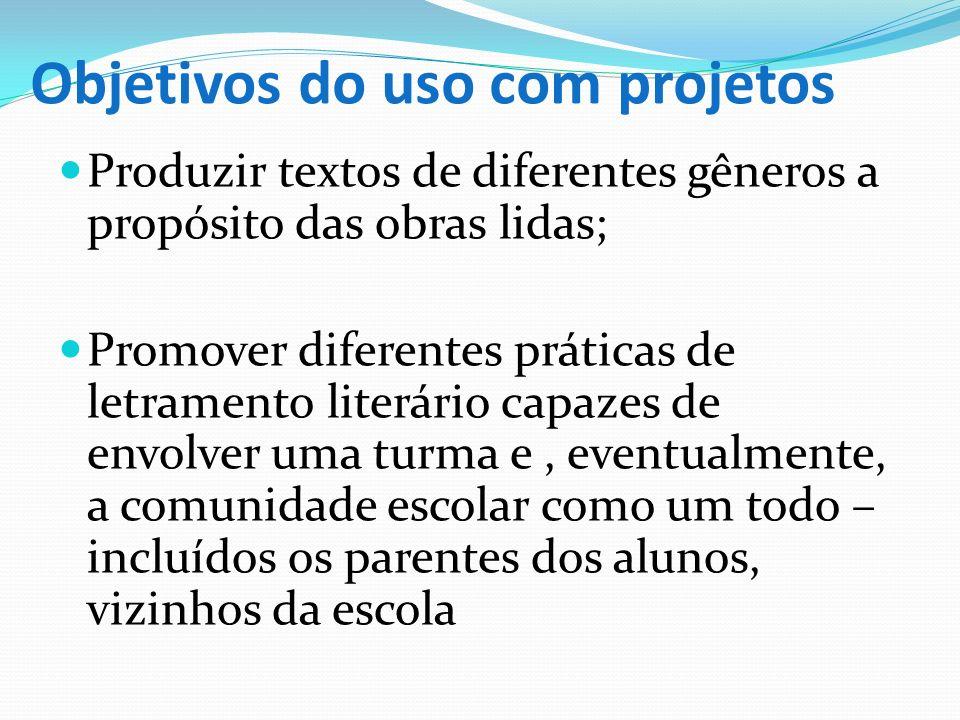Objetivos do uso com projetos