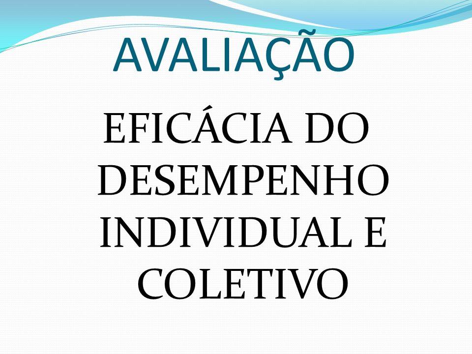 EFICÁCIA DO DESEMPENHO INDIVIDUAL E COLETIVO
