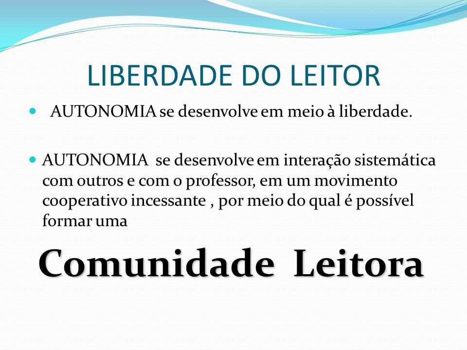 Comunidade Leitora LIBERDADE DO LEITOR