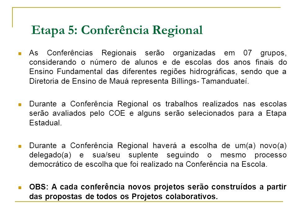 Etapa 5: Conferência Regional