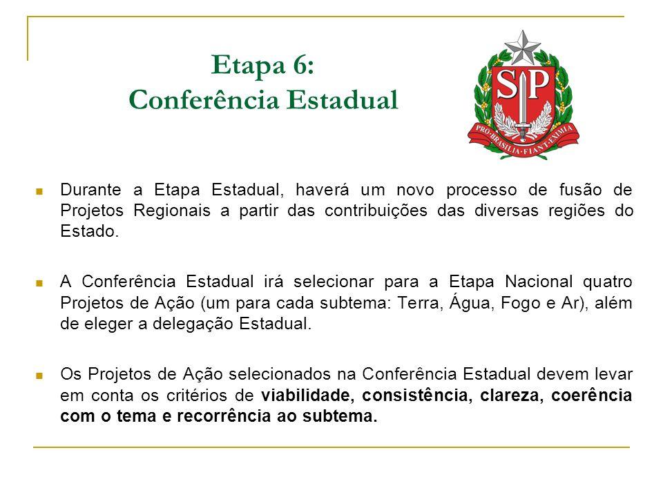 Etapa 6: Conferência Estadual