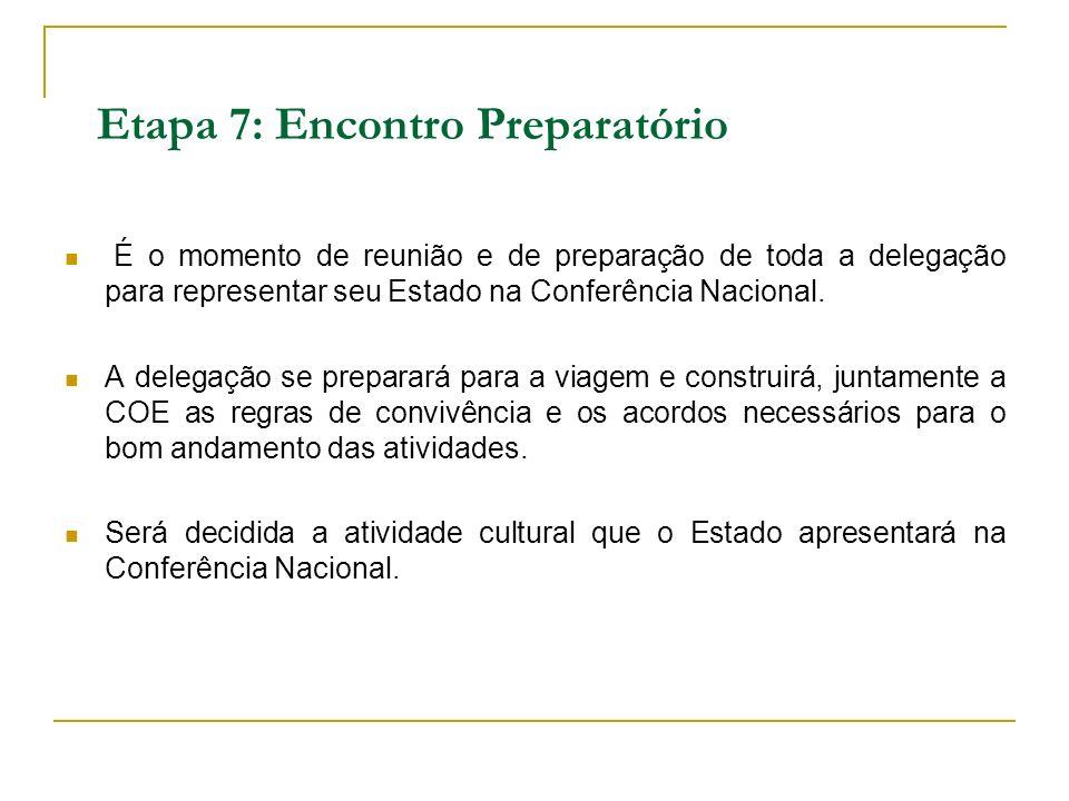 Etapa 7: Encontro Preparatório