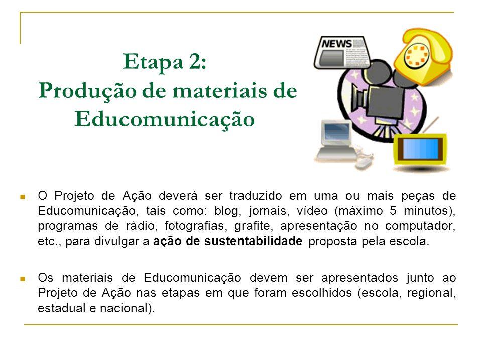 Etapa 2: Produção de materiais de Educomunicação