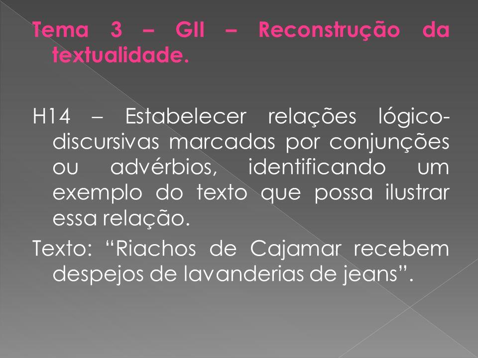 Tema 3 – GII – Reconstrução da textualidade