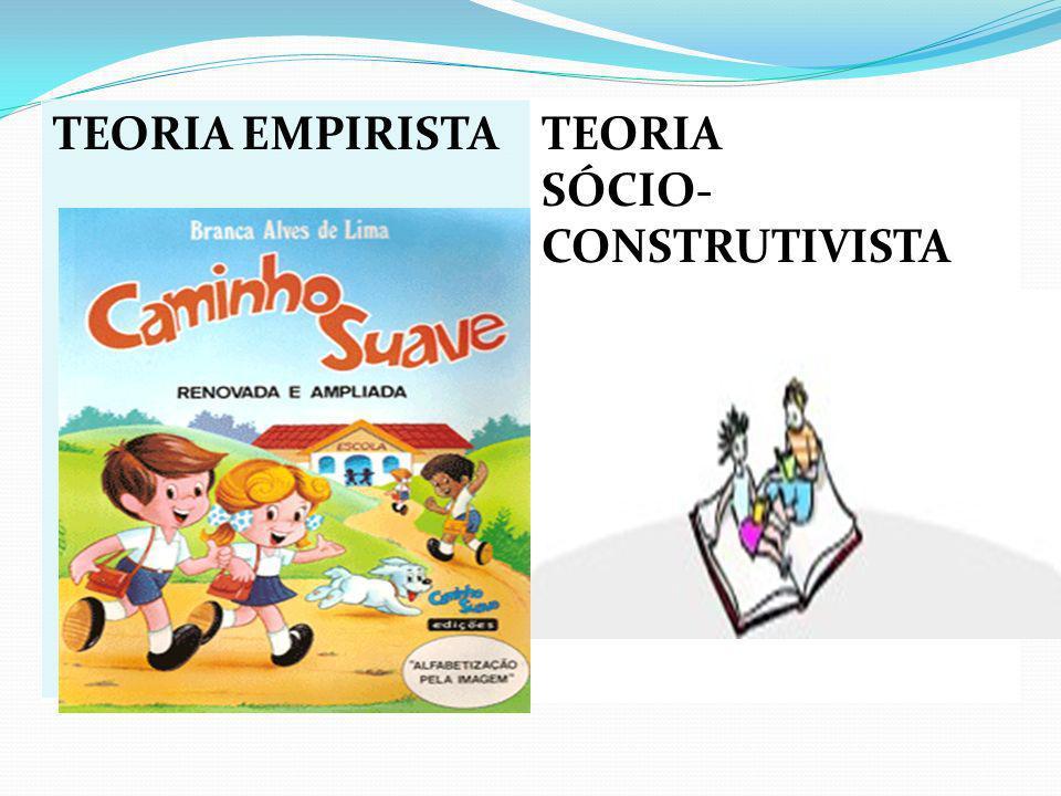 TEORIA EMPIRISTA TEORIA SÓCIO-CONSTRUTIVISTA E TEORIA