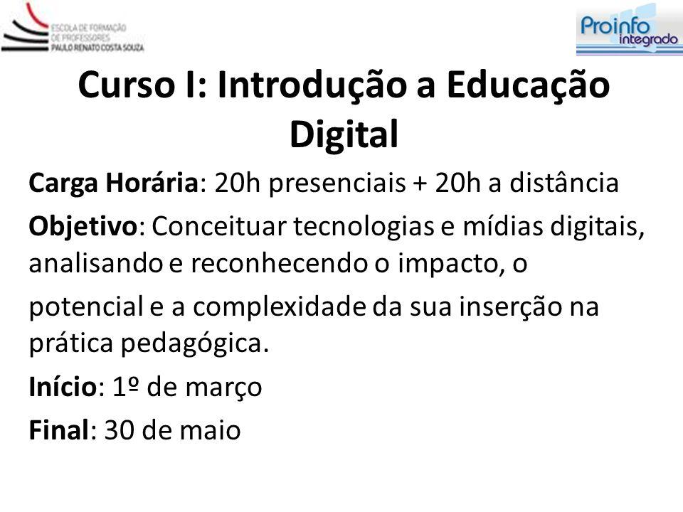 Curso I: Introdução a Educação Digital