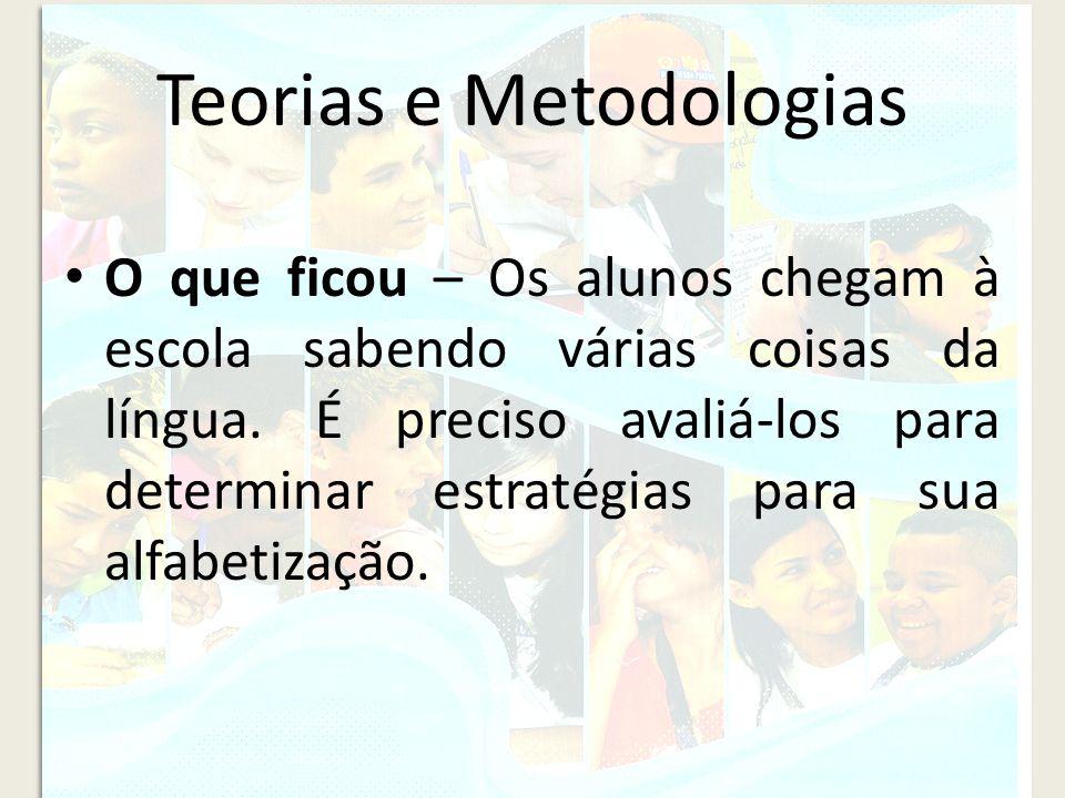 Teorias e Metodologias