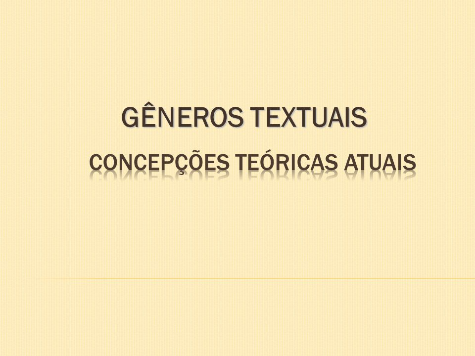 CONCEPÇÕES TEÓRICAS ATUAIS