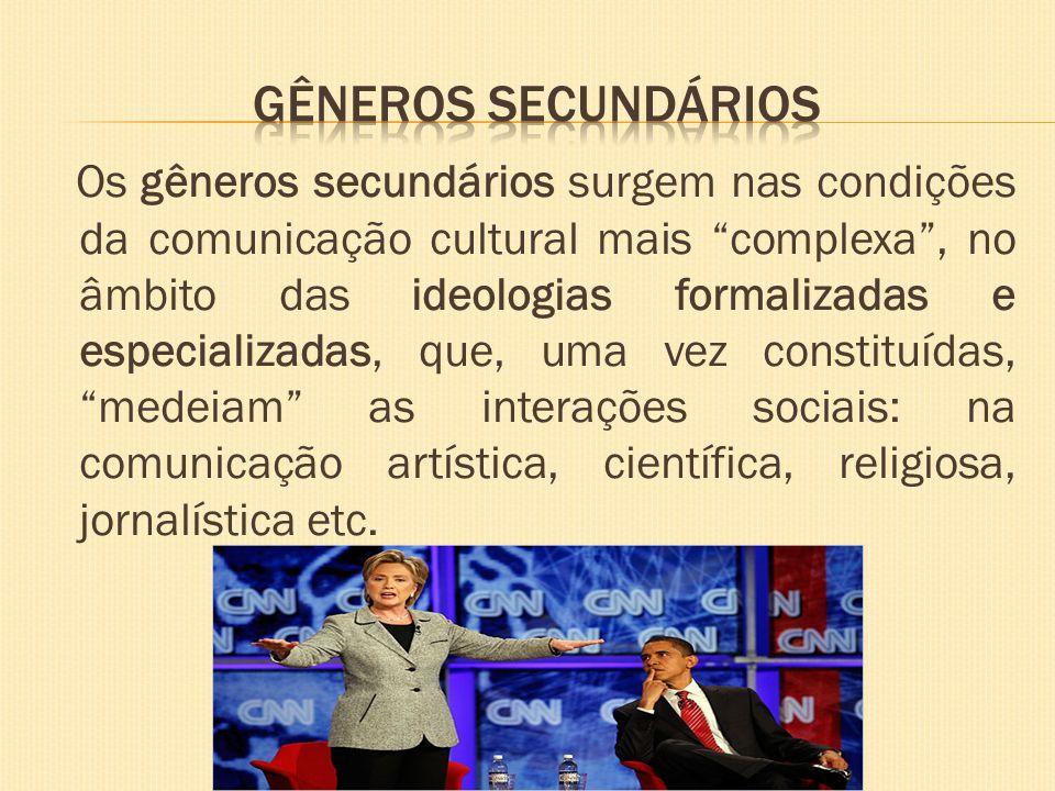 GÊNEROS SECUNDÁRIOS