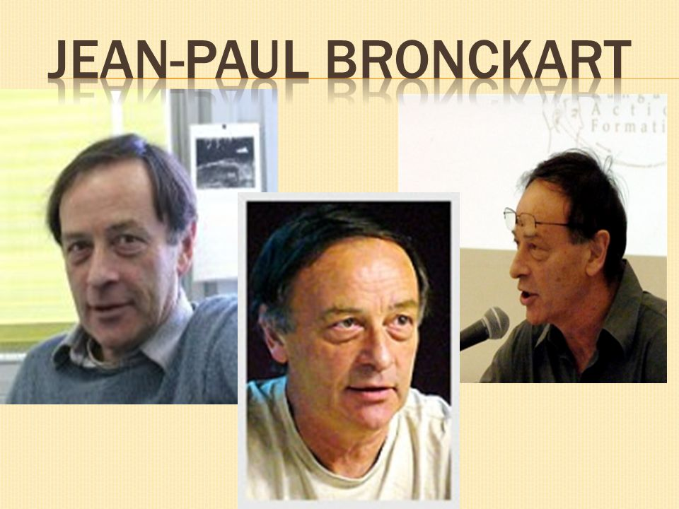 Jean-paul BRONCKART