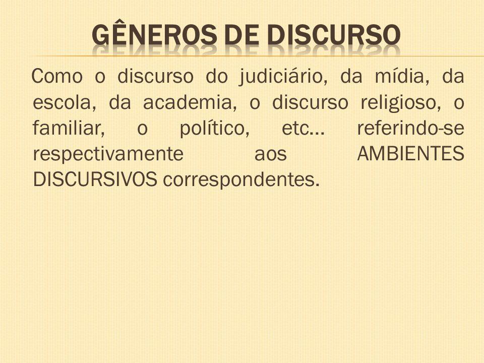 GÊNEROS DE DISCURSO