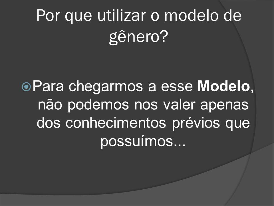 Por que utilizar o modelo de gênero