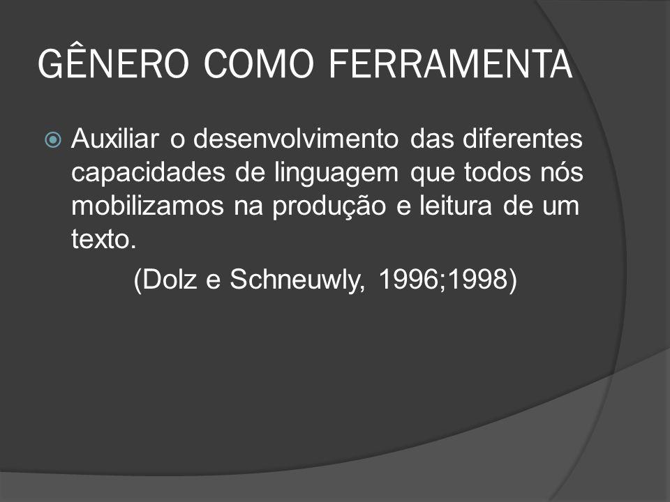 GÊNERO COMO FERRAMENTA
