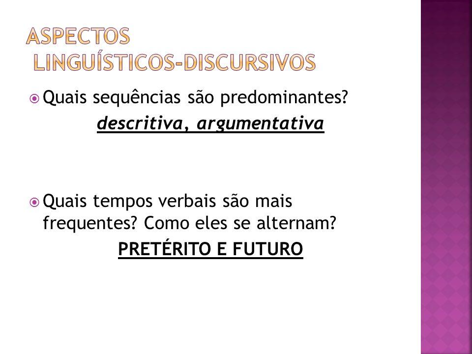 ASPECTOS LINGUÍSTICOS-DISCURSIVOS