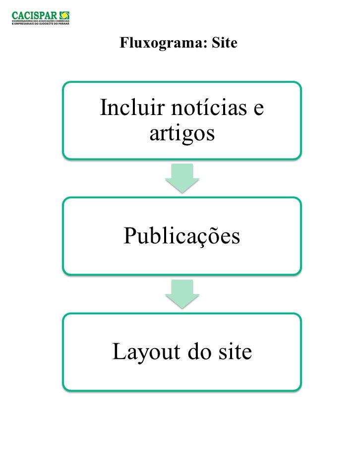 Incluir notícias e artigos