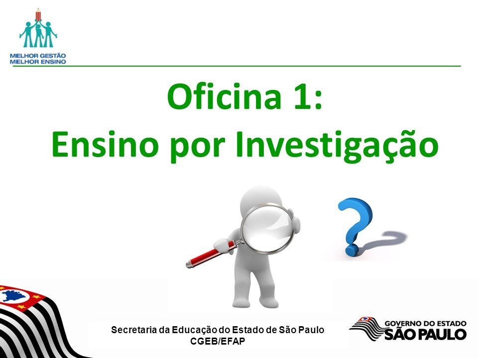 Oficina 1: Ensino por Investigação