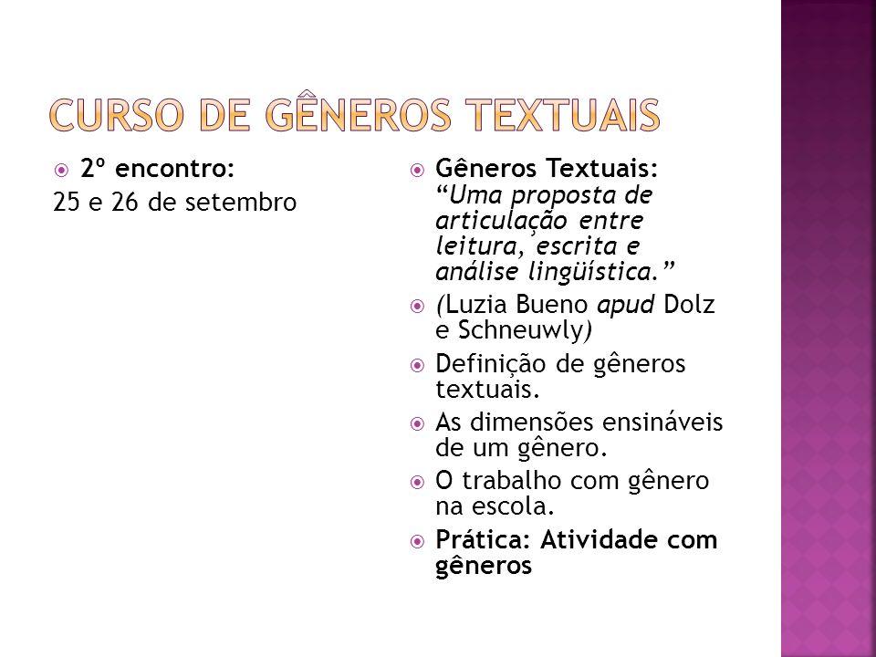 Curso de Gêneros Textuais